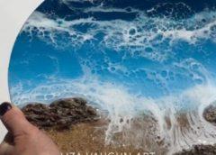 レジンによる波の表現